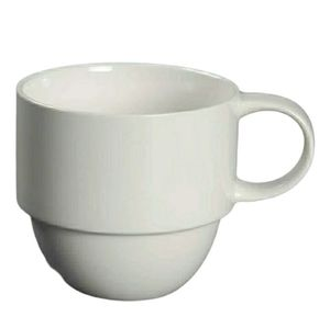 Crate and barrel 4 STAXX white stackable cups